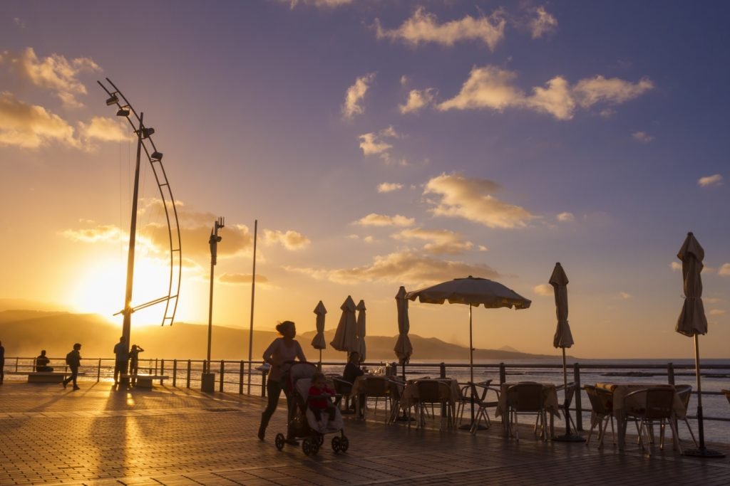 The view from the Playa Chica property zone of Las Palmas de Gran Canaria