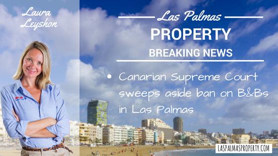 Supreme Court removes ban on B&B and room rentals in Las Palmas de Gran Canaria city