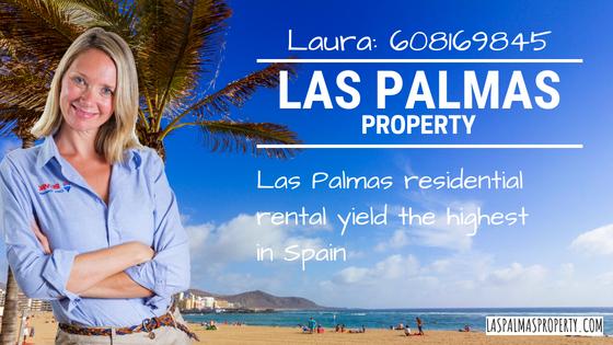 Las Palmas rental Investment: Las Palmas de Gran Canaria residential rental yield the highest in Spain